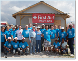 Trinity Students Serve with Habitat for Humanity International