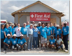 Trinity Students Serve with Habitat for Humanity International