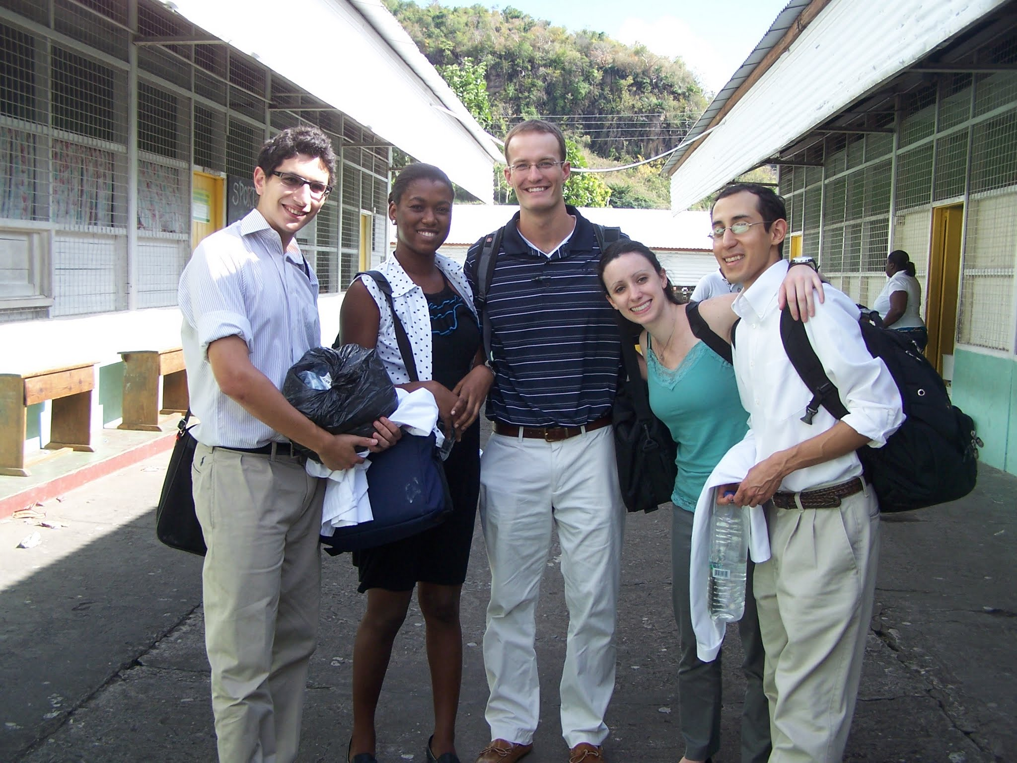 Dr. Boland and Trinity colleagues in St. Vincent