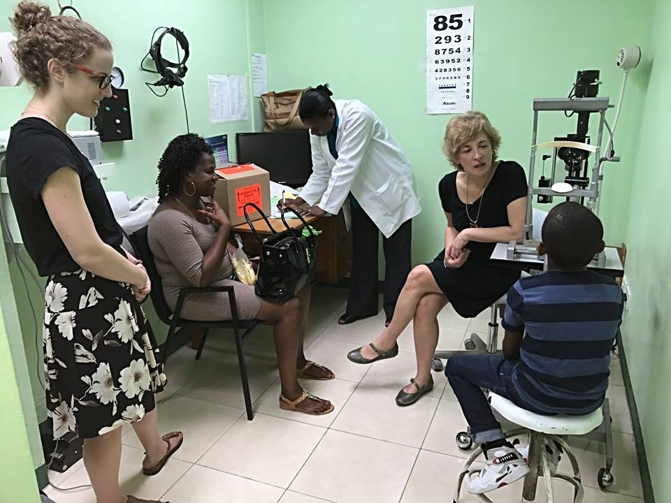 Dr. Browne seeing patients with WPP in St. Vincent