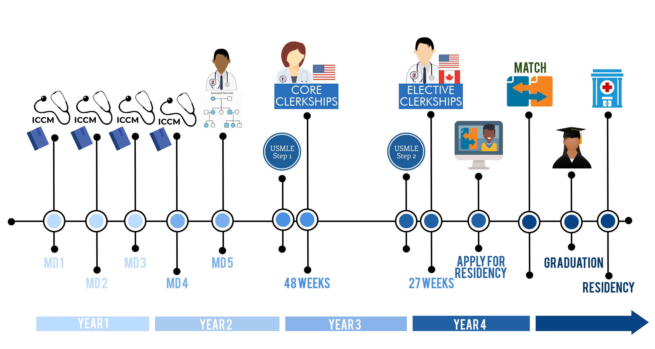 4 year MD Timeline