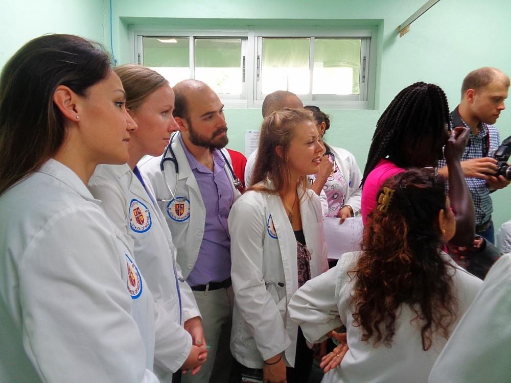 Trinity students observe consultations