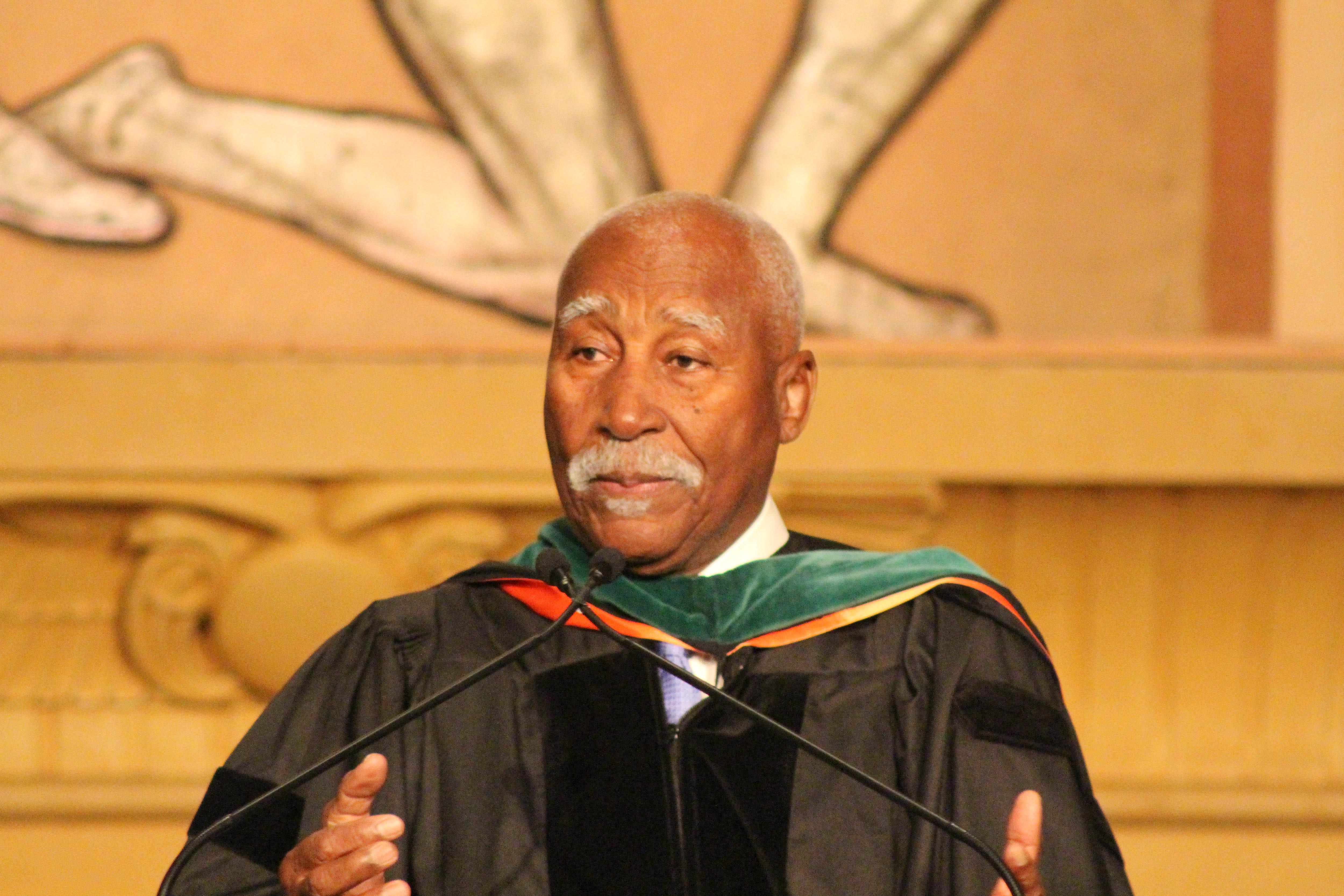 St. Vincent's Governor General Ballantyne addresses the graduates