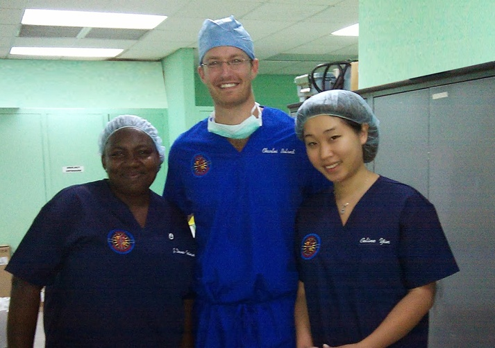 Dr. Boland with colleagues in med school