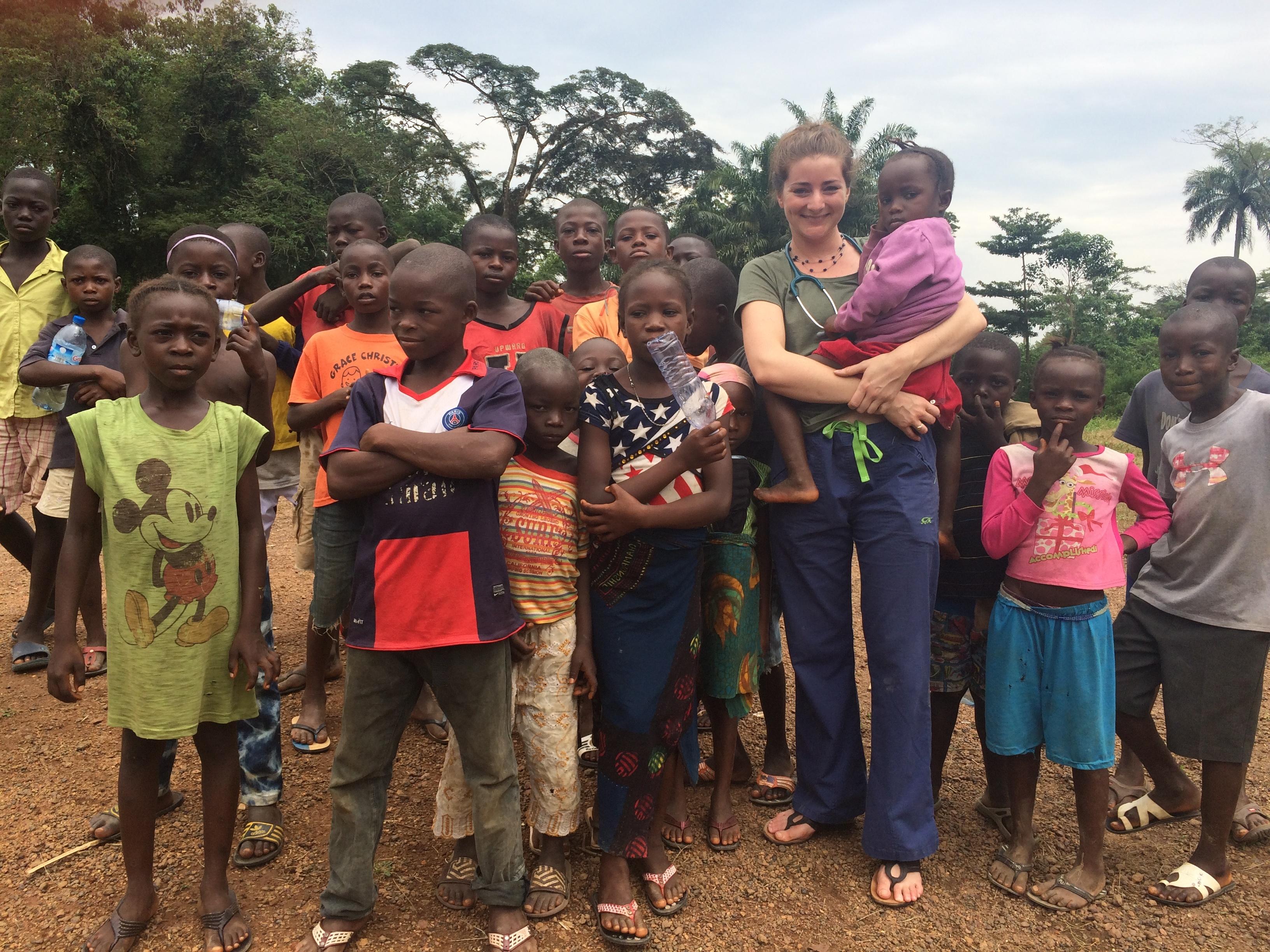 Trinity grad Dr. Waterman in Sierra Leone