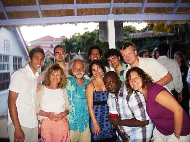 Group photo of Trinity SOM Students with Dr. Ezekiel
