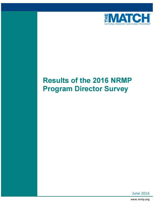 Results of the 2016 NMRP program director survey