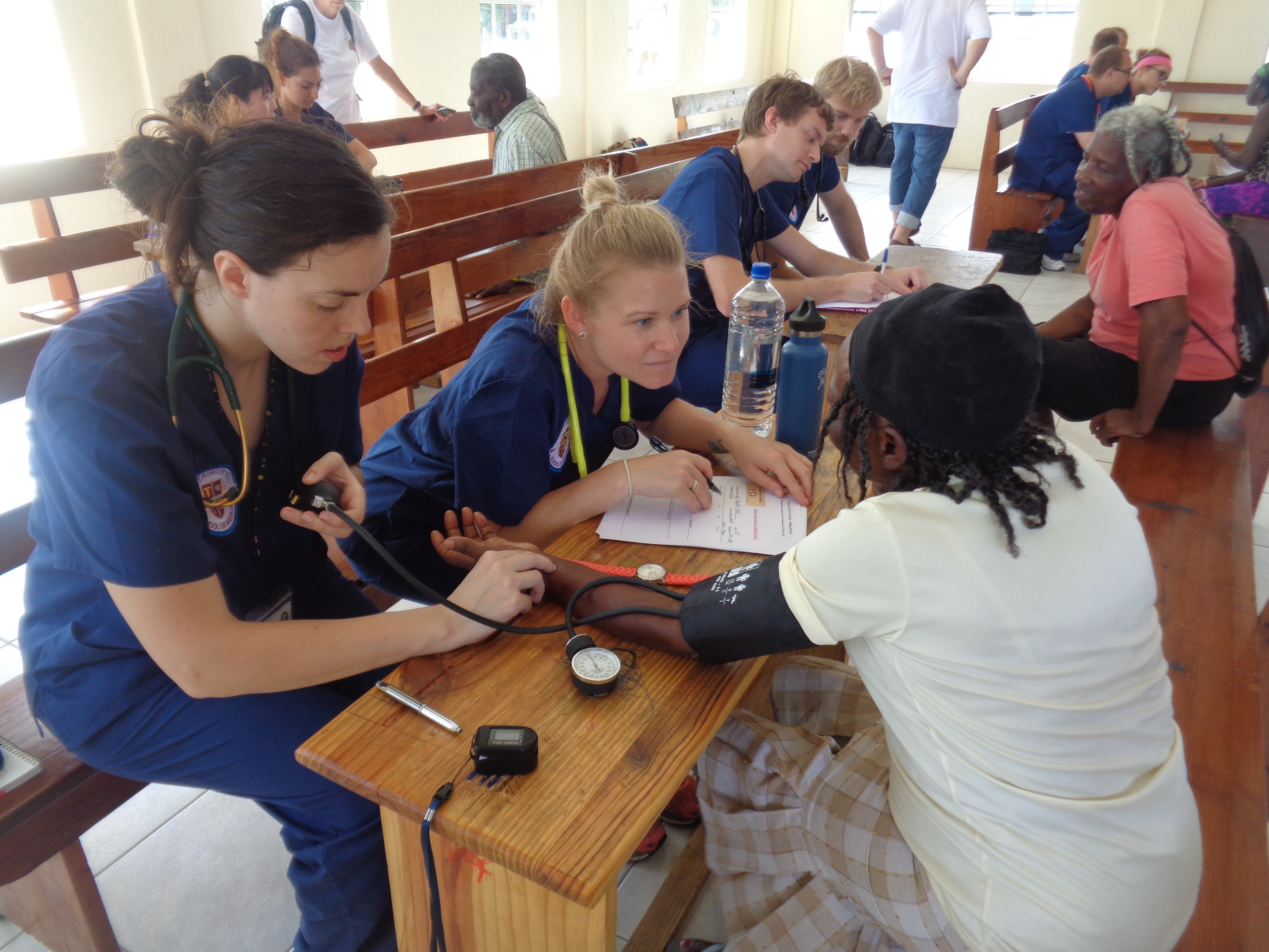 Trinity Students, Faculty, and SVG Rotary Travel to Island of Mayreau for Medical Outreach